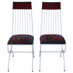 Pair of Patio Chairs with Jack Lenor Larsen Fabric