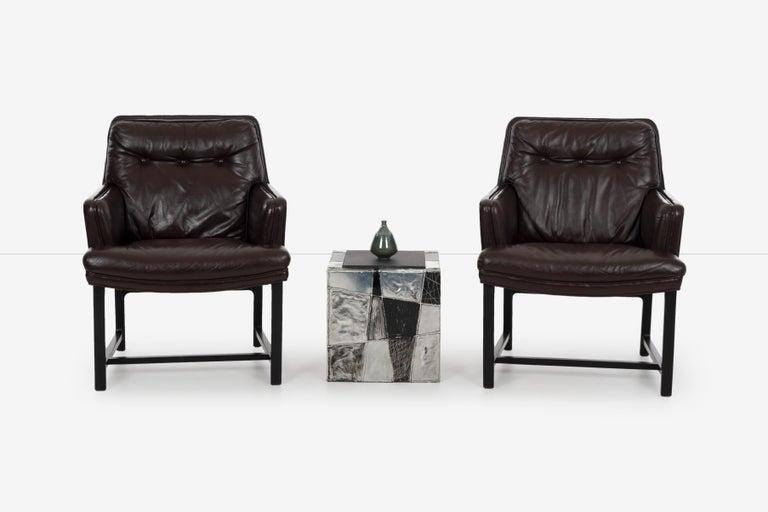 Aluminum Pair of Paul Evans Argente End Tables For Sale