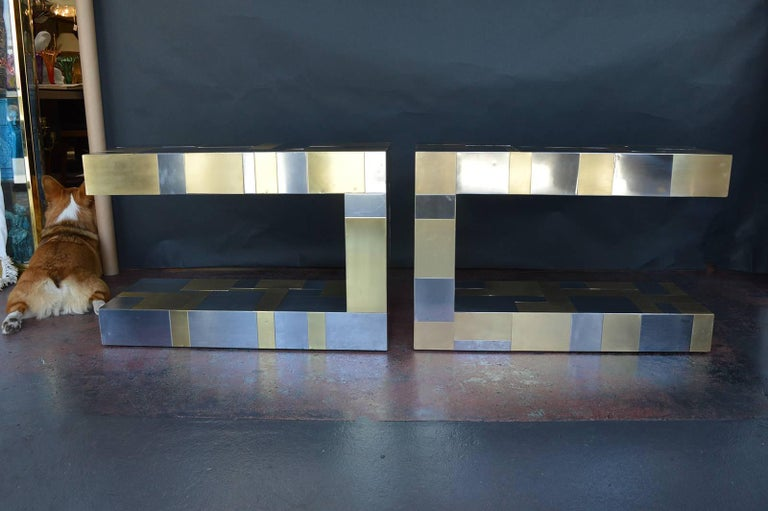 Pair of Paul Evans Cityscape Side Tables In Excellent Condition For Sale In Los Angeles, CA