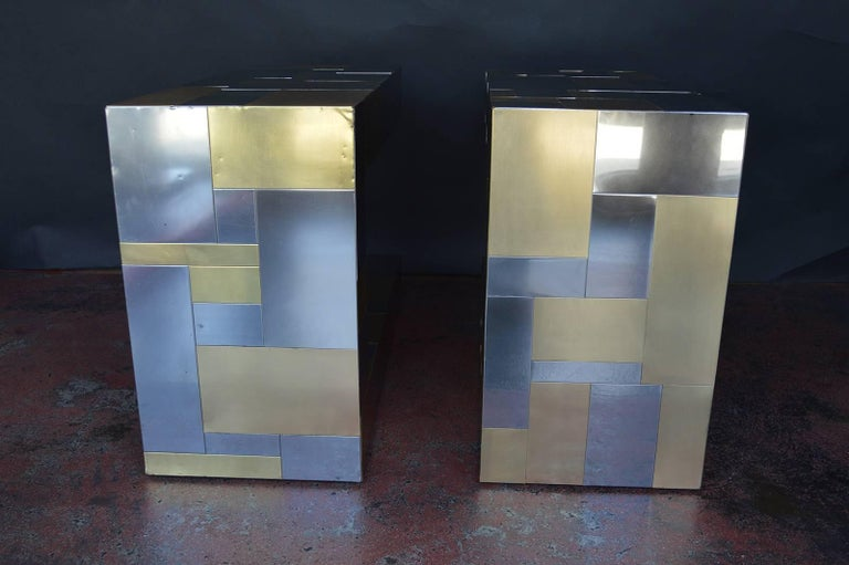 Pair of Paul Evans Cityscape Side Tables For Sale 2