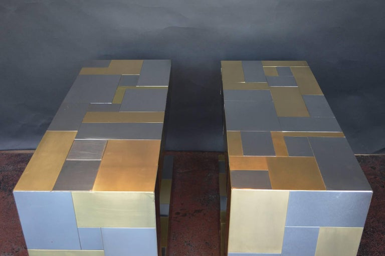 Pair of Paul Evans Cityscape Side Tables For Sale 3
