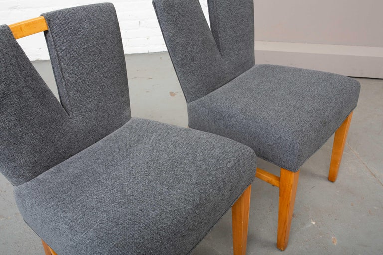 1950s Pair of Paul Frankl Corset Side Chairs For Sale