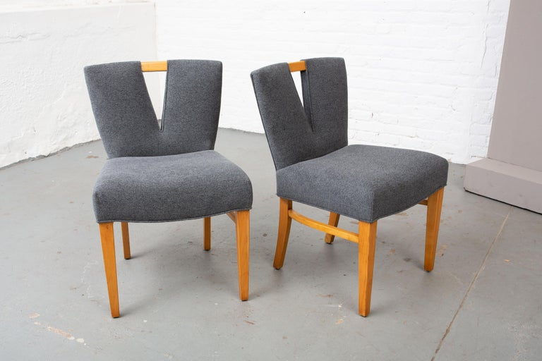 Pair of Paul Frankl Corset Side Chairs For Sale 1