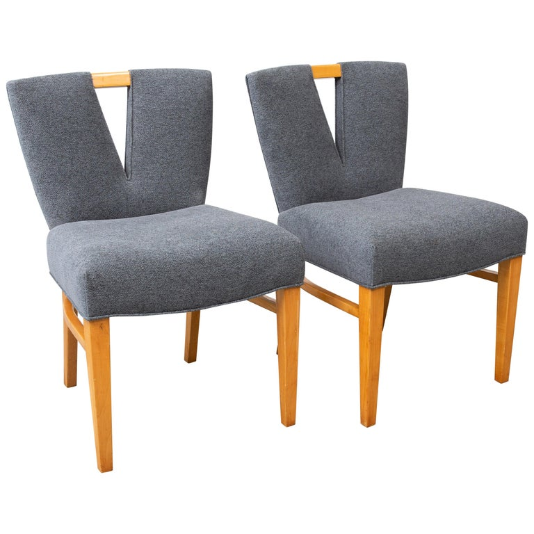 Pair of Paul Frankl Corset Side Chairs For Sale