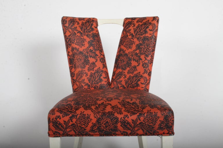 Mid-Century Modern Pair of Paul Frankl for Johnson Corset Side Dining Chairs For Sale