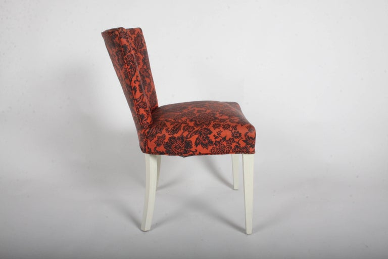 Mid-20th Century Pair of Paul Frankl for Johnson Corset Side Dining Chairs For Sale