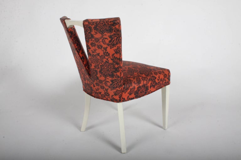 Pair of Paul Frankl for Johnson Corset Side Dining Chairs For Sale 1
