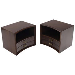 Pair of Paul Frankl for Johnson Furniture Nightstands End Tables