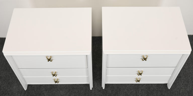 Pair of Paul Frankl Italian Lacquered Bedside Tables, 1940s For Sale 1