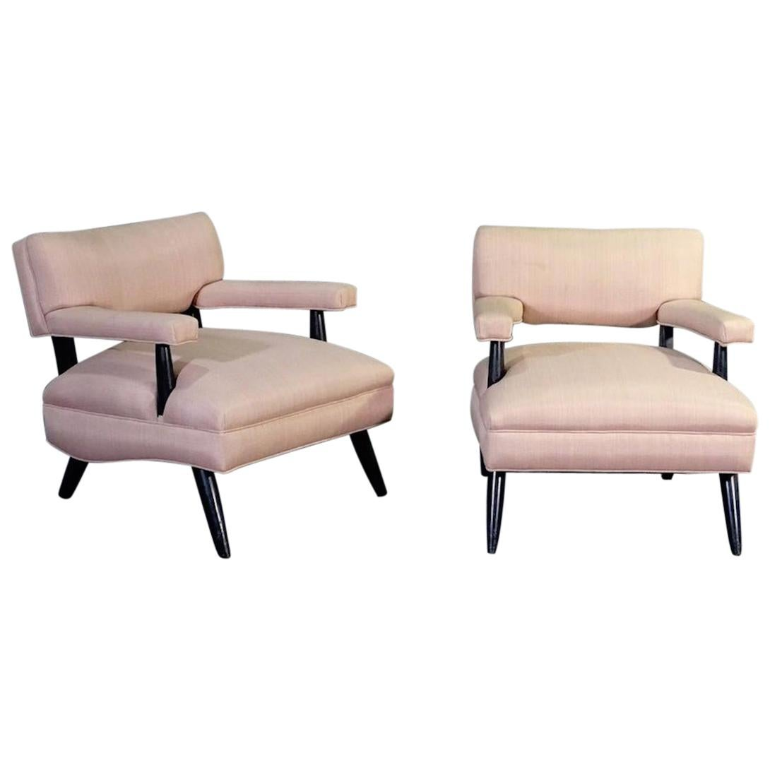 Pair of Paul Laszlo Style Lounge Chairs
