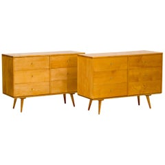 Pair of Paul McCobb Dressers / Chests on Platforms, Planner Group