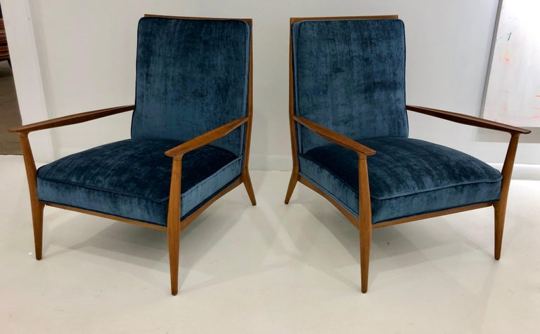 Mid-Century Modern Pair of Paul McCobb Easy Chairs For Sale