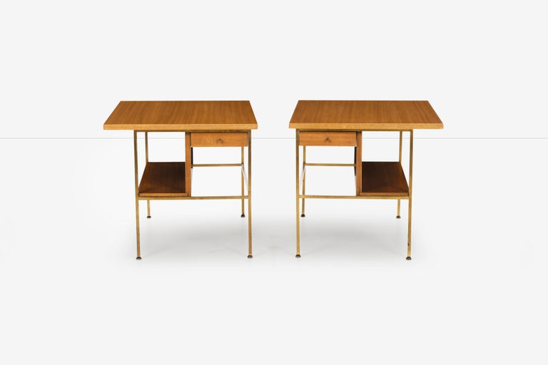Mid-Century Modern Pair of Paul McCobb End Tables or Nightstands For Sale