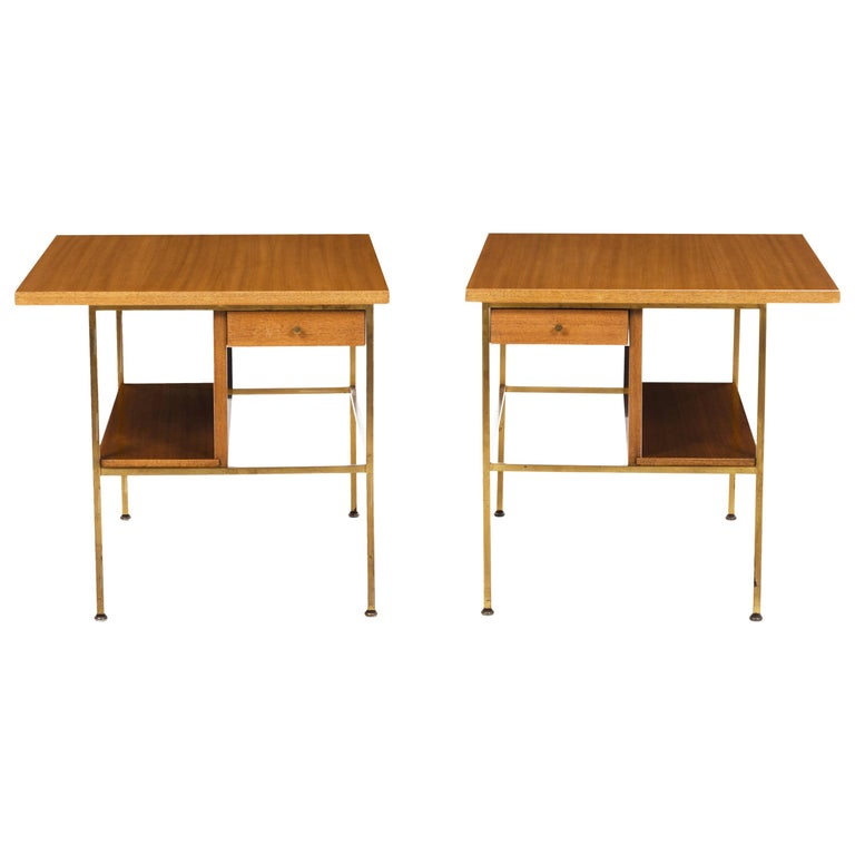 Pair of Paul McCobb End Tables or Nightstands For Sale