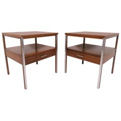 Pair of Paul McCobb for Calvin Linear Group End Tables, circa 1950s