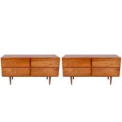 Paar Kommoden oder Nachttische mit vier Schubladen von Paul McCobb, 1960er Jahre