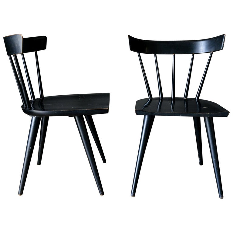 Pair Of Paul Mccobb Planner Group Chairs In Black Circa 1955 At 1stdibs