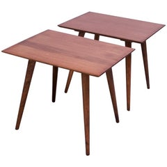 Pair of Paul McCobb Planner Group Maple Side Tables