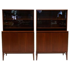Pair of Paul McCobb Storage Cabinets for Use with or Without the Top Section