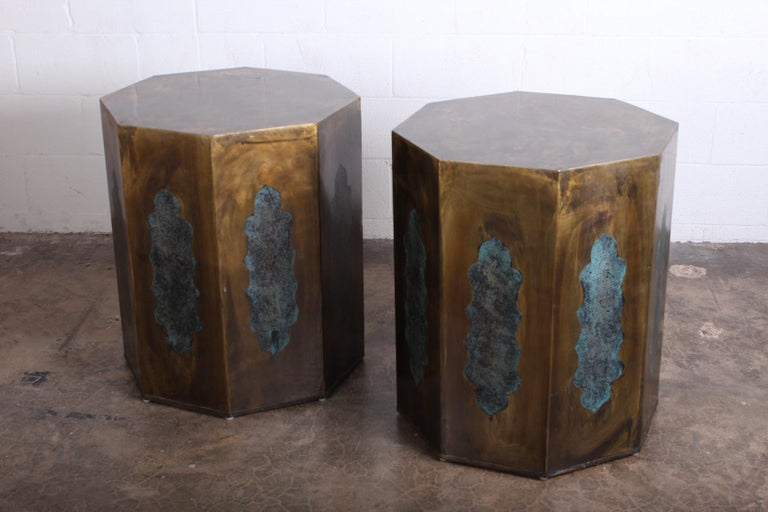 Pair of Pedestal Table Bases by Philip & Kelvin LaVerne For Sale 7