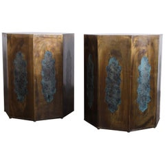 Pair of Pedestal Table Bases by Philip & Kelvin LaVerne