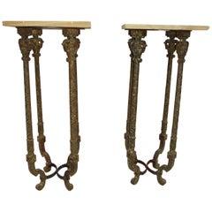Pair of Pedestal Tables Biltmore Hotel