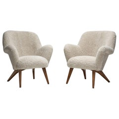 """Pair of """"Pedro"""" Armchairs by Carl Gustaf Hiort af Ornäs, Finland, 1950s"""