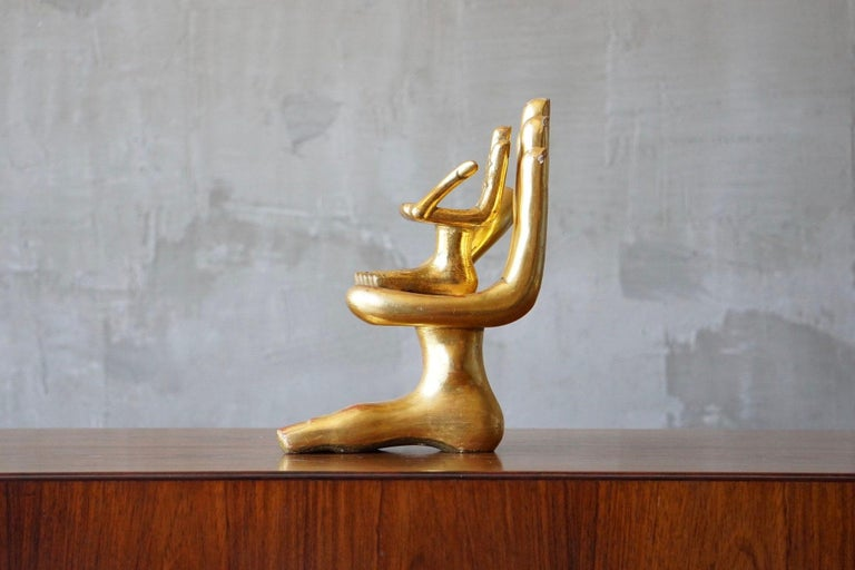 Mid-20th Century Pair of Pedro Friedeberg Hand Foot Sculptures For Sale