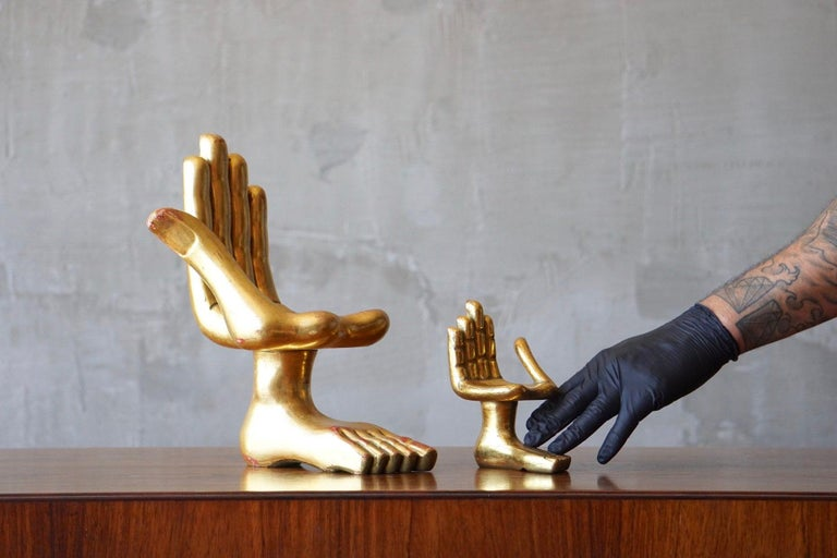 Pair of Pedro Friedeberg Hand Foot Sculptures For Sale 1