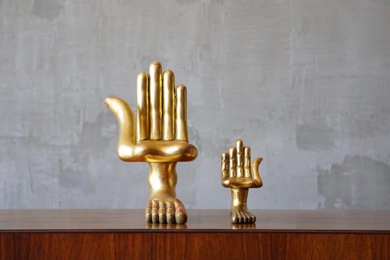 Pair of Pedro Friedeberg Hand Foot Sculptures For Sale 2