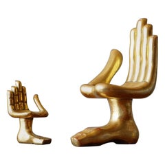 Pair of Pedro Friedeberg Hand Foot Sculptures