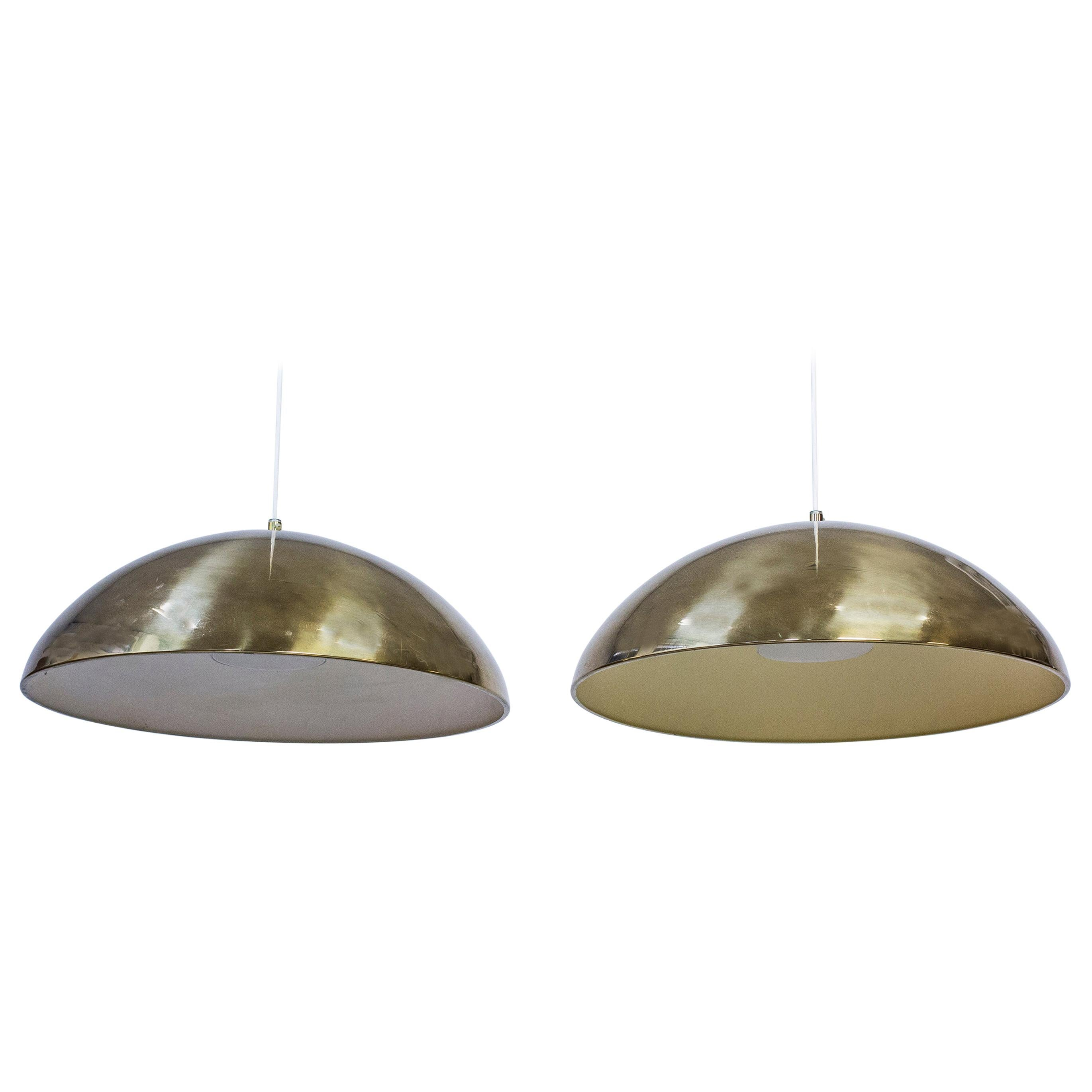 "Pair of Pendant Lamps Model ""T-29"" by Bergboms, Sweden, 1960s"