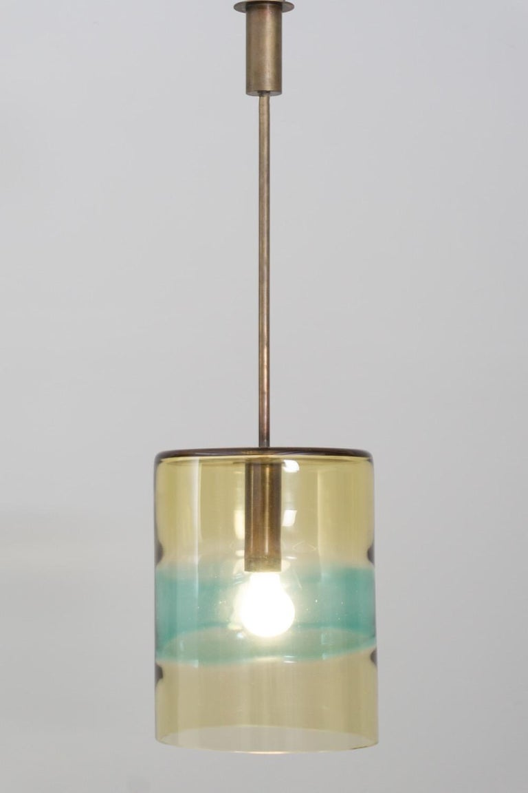 Modern Pair of Pendants, Handblown Glass, Flavio Poli/Seguso, 1958 For Sale