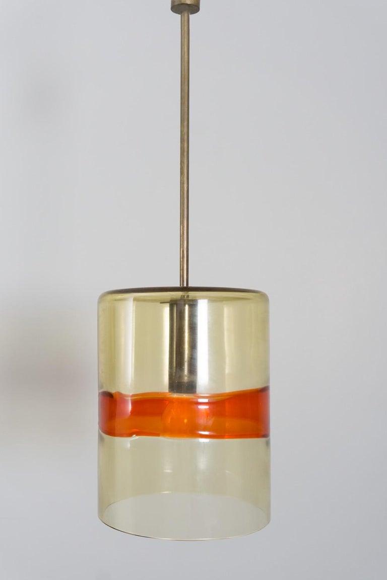 Mid-20th Century Pair of Pendants, Handblown Glass, Flavio Poli/Seguso, 1958 For Sale