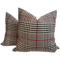 Pair of Pendleton Plaid Hounds Tooth Pillows