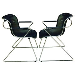 Pair of Penelope Armchairs Designed by Charles Pollock