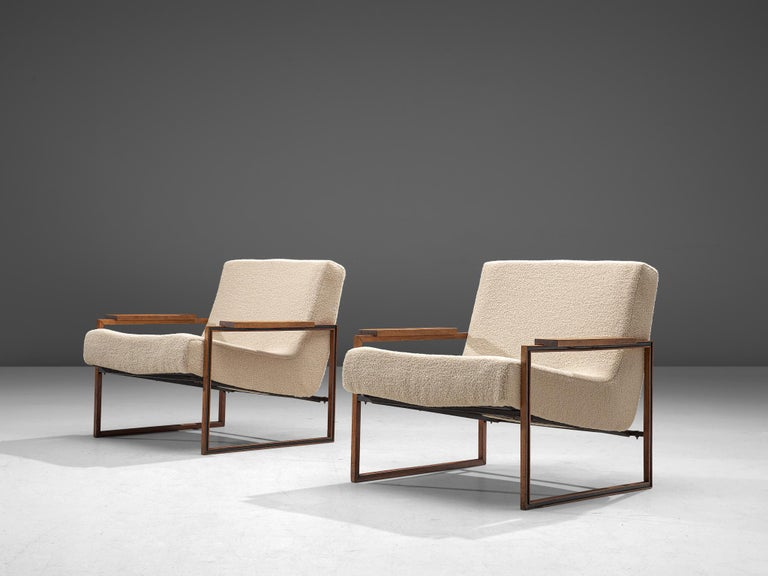 Mid-Century Modern Pair of Percival Lafer Armchairs, 1960 For Sale