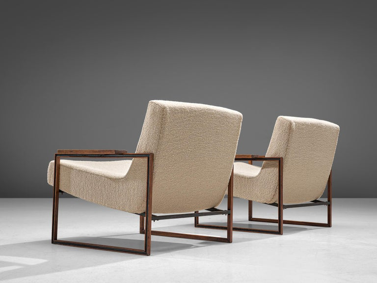 Brazilian Pair of Percival Lafer Armchairs, 1960 For Sale