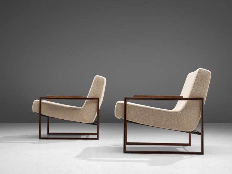 Pair of Percival Lafer Armchairs, 1960 In Good Condition For Sale In Waalwijk, NL