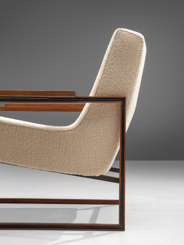 Mid-20th Century Pair of Percival Lafer Armchairs, 1960 For Sale