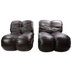 Pair of Percival Lafer Leather Lounge Chairs