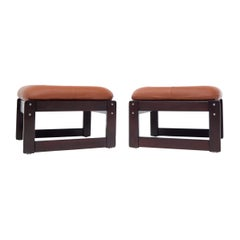 """Pair of Percival Lafer Midcentury Brazilian """"MP-97"""" Stools Foot Rests Ottomans"""