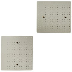 Pair of Perforated French Sconces