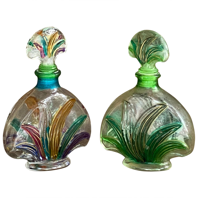 Pair of Perfume Bottles, in Glass, France, 1970