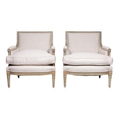 Pair of Period, French Marquis Chairs