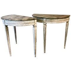 Pair of Period Gustavian Console Tables