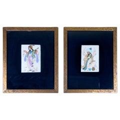 Pair of Persian Original Miniatures Painting