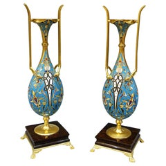 Pair of Persian Style Vases, Ferdinand Barbedienne and Louis-Constant Sévin