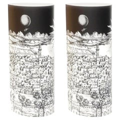 Pair of Perspex Table Lamps Gerusalem by Barnaba Fornasetti