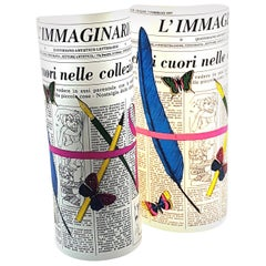 "Pair of Perspex Table Lamps ""Immaginario"" by Barnaba Fornasetti, Italy, 1995"